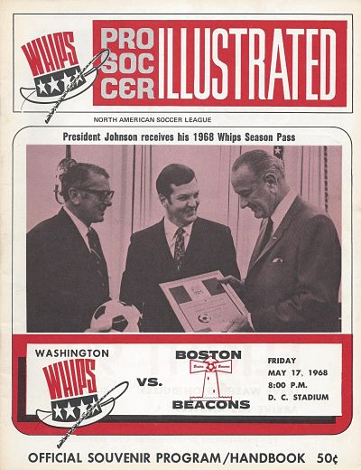 Boston Beacons at Washington Whips. May 17, 1968