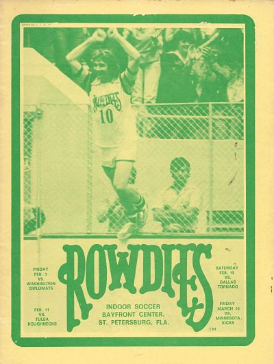 Tampa Bay Rowdies vs. Washington Diplomats. Indoor soccer. February 3, 1978