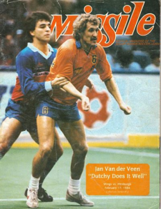 1983-84 MISSILE Magazine – Jan Van Der Veen, Wichita Wings