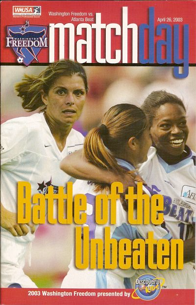 Washington Freedom vs. Atlanta Beat. April 26, 2003