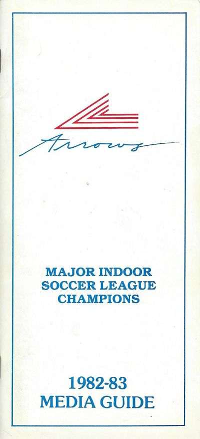 1982-83 New York Arrows Media Guide