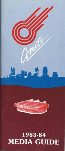 1983-84 Kansas City Comets Media Guide