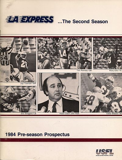 1984 Los Angeles Express Pre-Season Prospectus