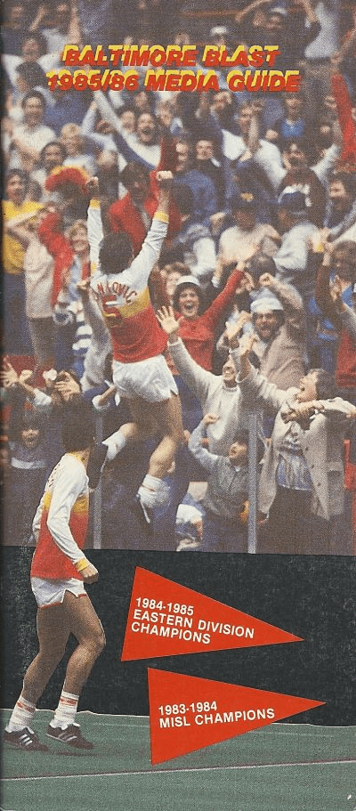 1985-86 Baltimore Blast Media Guide
