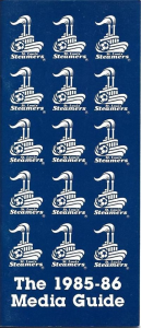 1985-86 St. Louis Steamers Media Guide
