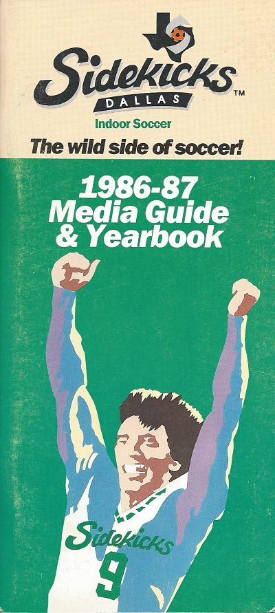 1986-87 Dallas Sidekicks Media Guide