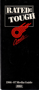 1986-87 Kansas City Comets Media Guide