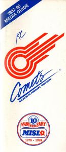 1987-88 Kansas City Comets Media Guide