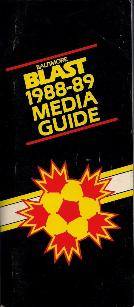 1988-89 Baltmore Blast Media Guide