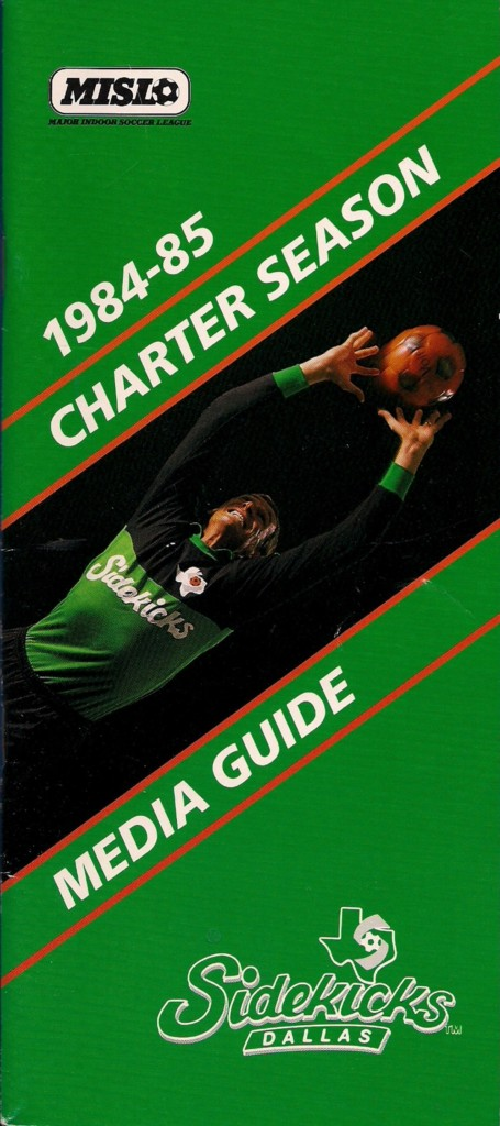 1984-85 Dallas Sidekicks Media Guide