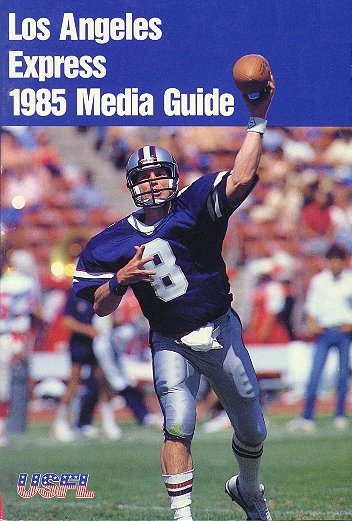 1985 Los Angeles Express Media Guide