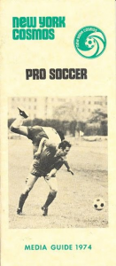 1974 New York Cosmos Media Guide