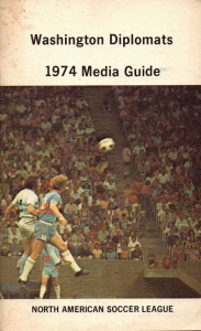 1974 Washington Diplomats Media Guide
