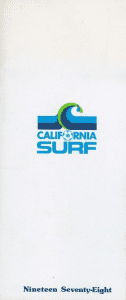 1978 California Surf Media Guide