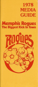 1978 Memphis Rogues Media Guide