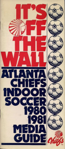 1980-81 Atlanta Chiefs Media Guide