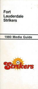 1980 Fort Lauderdale Strikers Media Guide