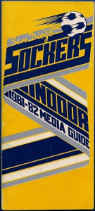 1981-82 San Diego Sockers Indoor Media Guide