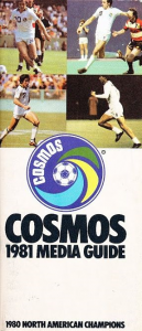 1981 New York Cosmos Media Guide