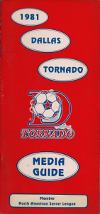 1981 Dallas Tornado Media Guide