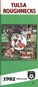 1982 Tulsa Roughnecks Media Guide