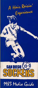 1983 San Diego Sockers Media Guide