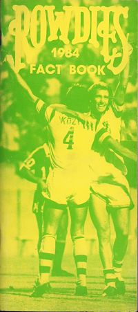 1984 Tampa Bay Rowdies Media Guide