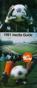 1981 Minnesota Kicks Media Guide