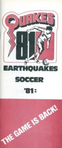 1981 San Jose Earthquakes Media Guide