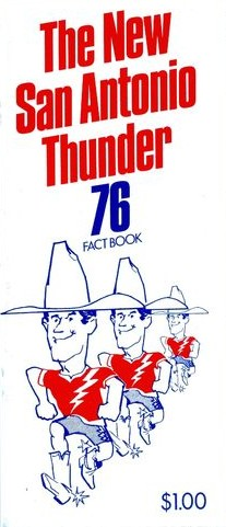 1976 San Antonio Thunder Media Guide