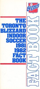 1981-82 Toronto Blizzard Indoor Media Guide