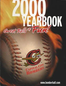 Capital City Bombers Yearbook
