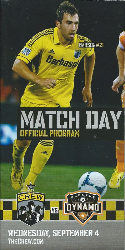 Columbus Crew vs. Houston Dynamo. September 4, 2013