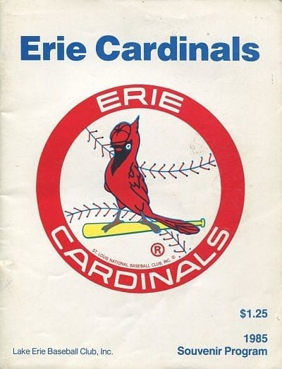 1985 Erie Cardinals Program