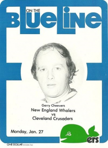 New England Whalers vs. Cleveland Crusaders. January 27, 1975