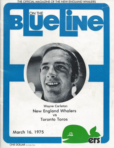 New England Whalers vs. Toronto Toros. March 16, 1975