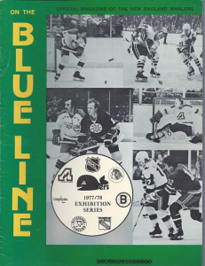 New England Whalers vs. Boston Bruins. WHA-NHL Exhibition. October 1, 1977