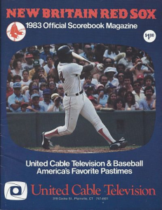 1983 New Britain Red Sox Program