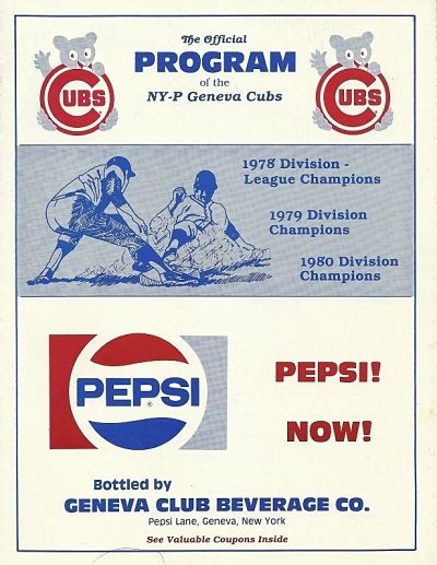 1984 Geneva Cubs Program