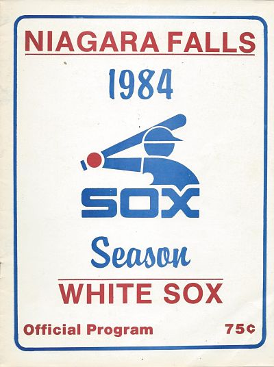 1984 Niagara Falls White Sox Program