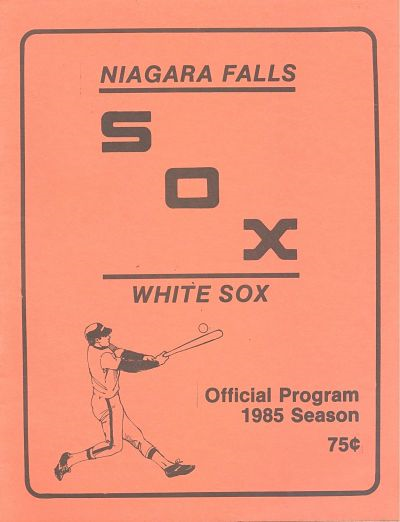 1985 Niagara Falls White Sox Program