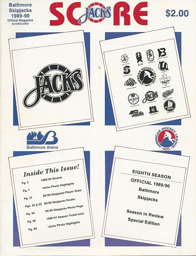 1990 Baltimore Skipjacks Program