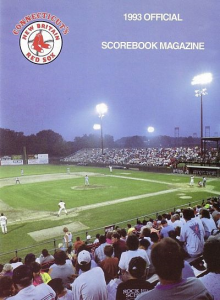 1993 New Britain Red Sox Program