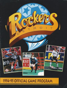1994-95 Detroit Rockers Program