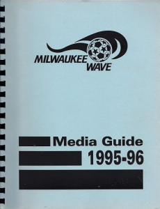 1995-96 Milwaukee Wave Media Guide