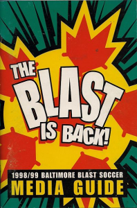 1998-99 Baltimore Blast Media Guide