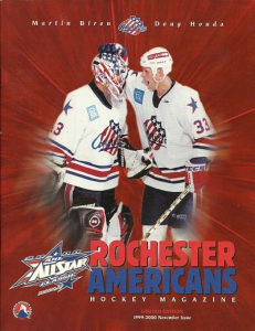 1999-00 Rochester Americans Program