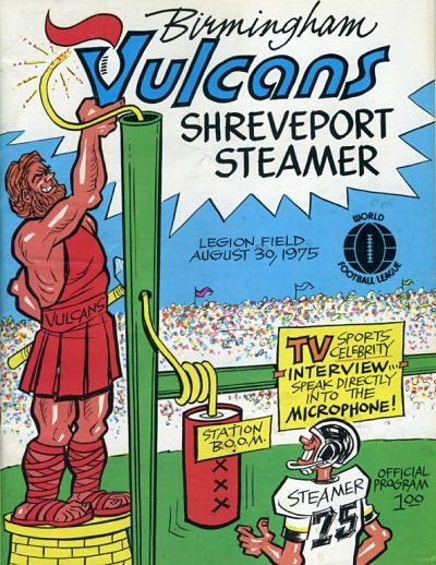 Shreveport Steamer @ Birmingham Vulcans. August 30, 1975