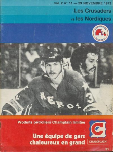 1973 Quebec Nordiques Program