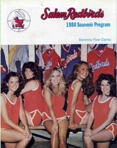 1980 Salem Redbirds Program